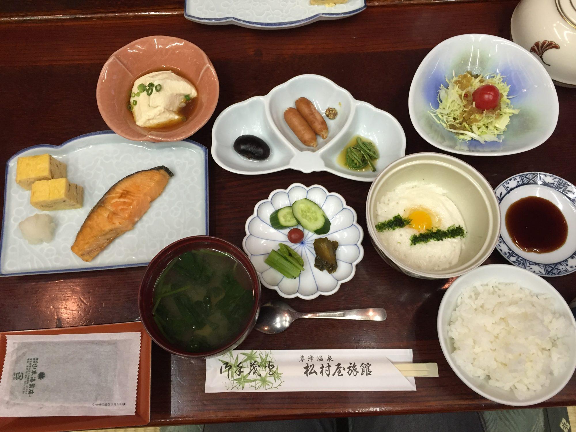 松村屋旅館朝食