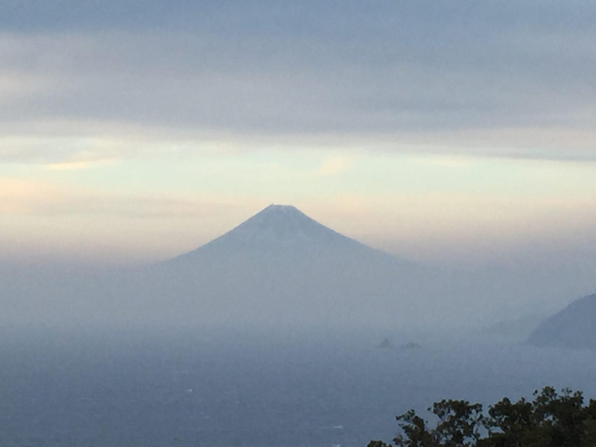 烏帽子山山頂からの富士山