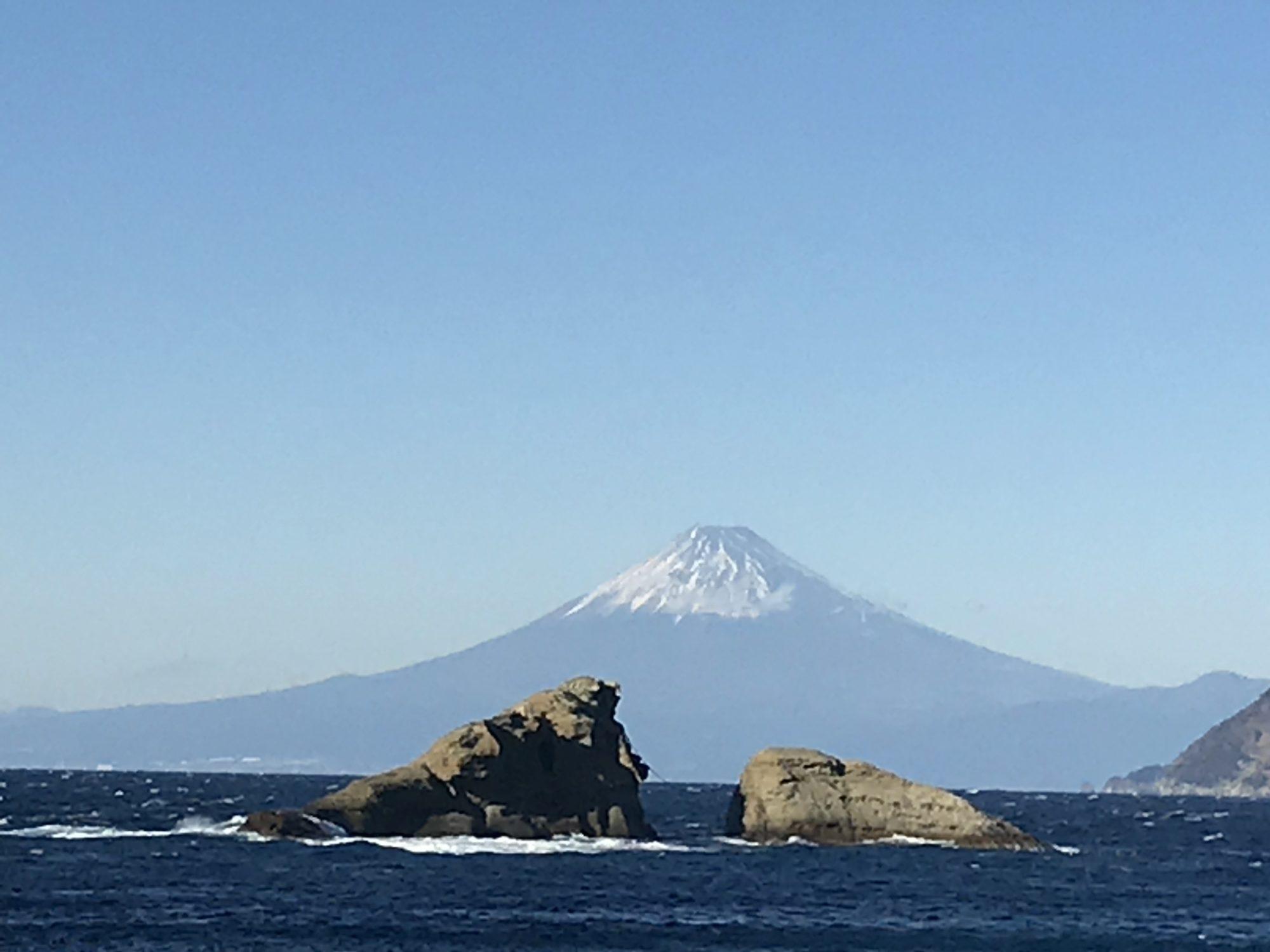 2018年雲見海岸からの富士山
