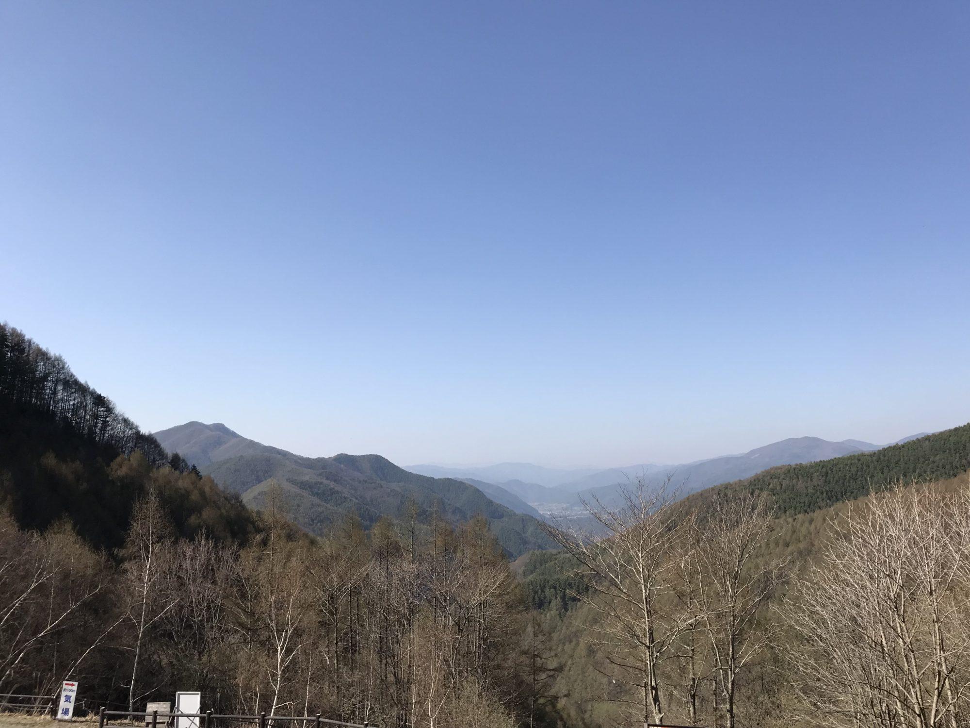 分杭峠バス乗降場からの景色