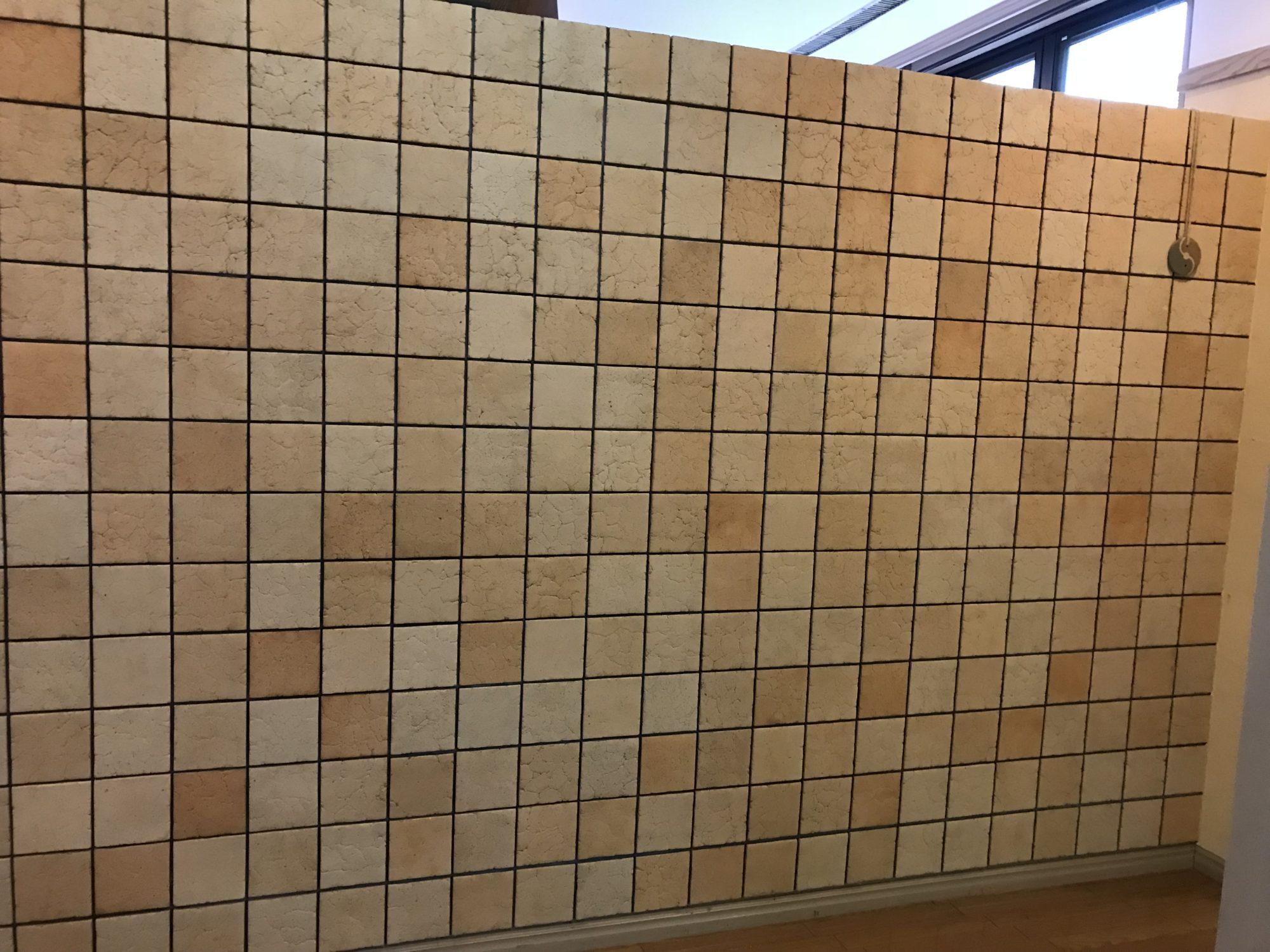 入野谷ロビーにある特殊な壁