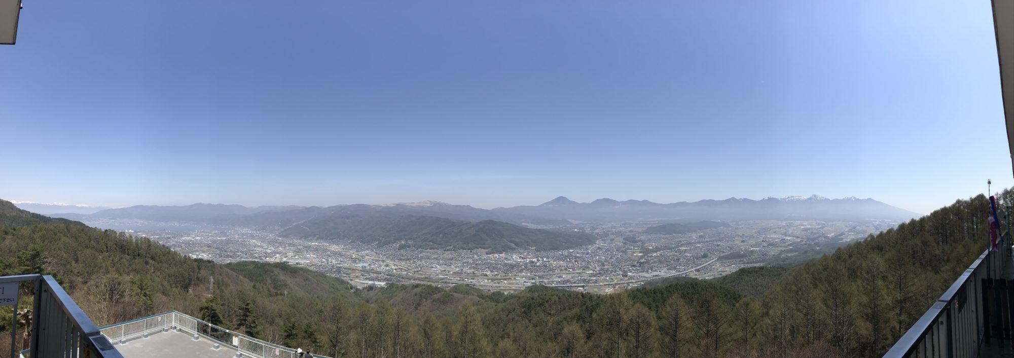 杖突峠からの展望パノラマ