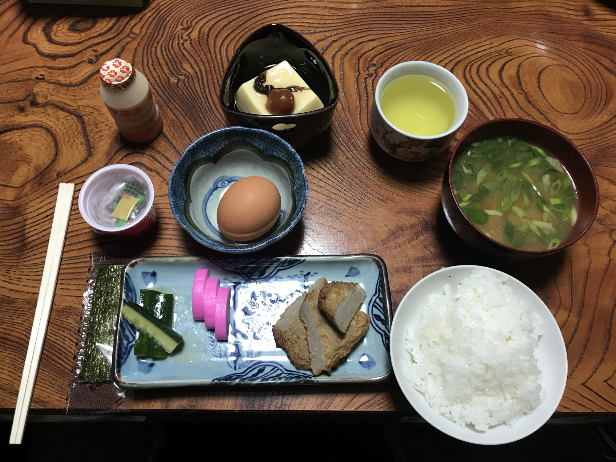 民宿友禅の朝食