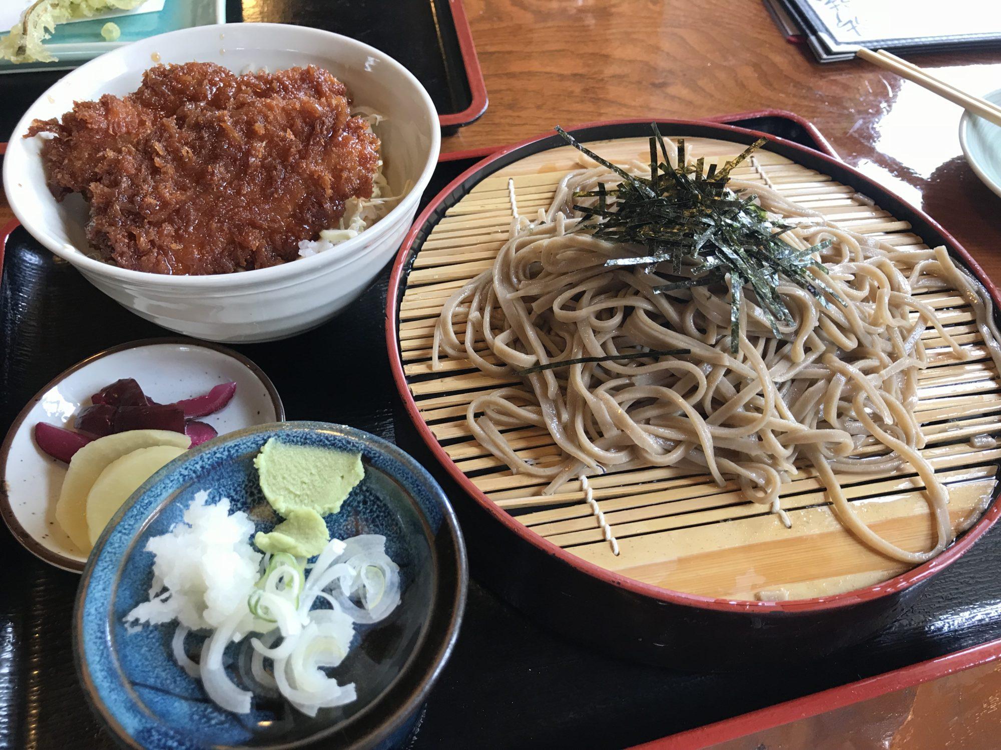 千ひろミニかつ丼とざる蕎麦のセット