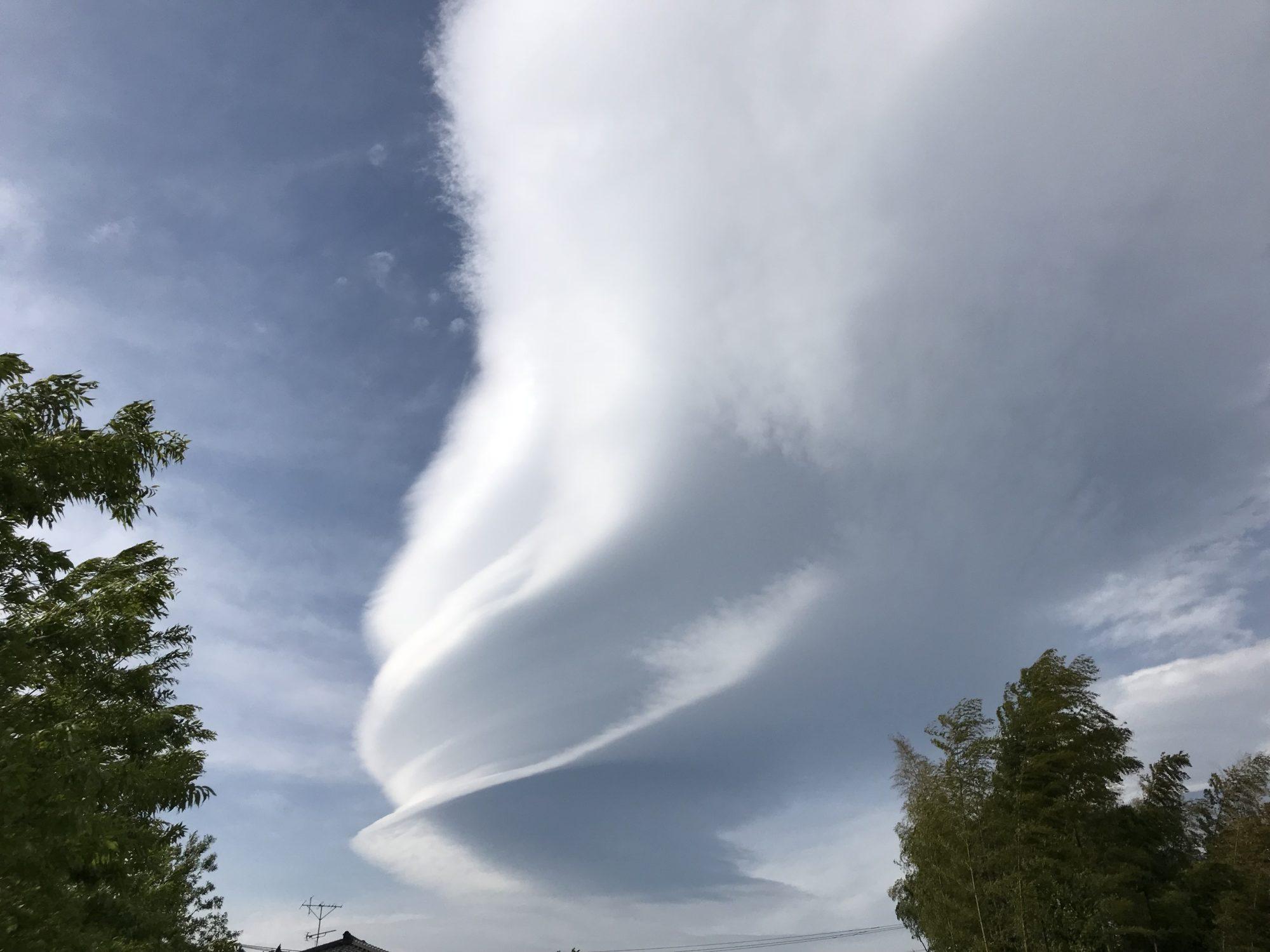 ゴールデンウィーク最終日に見えた吊るし雲