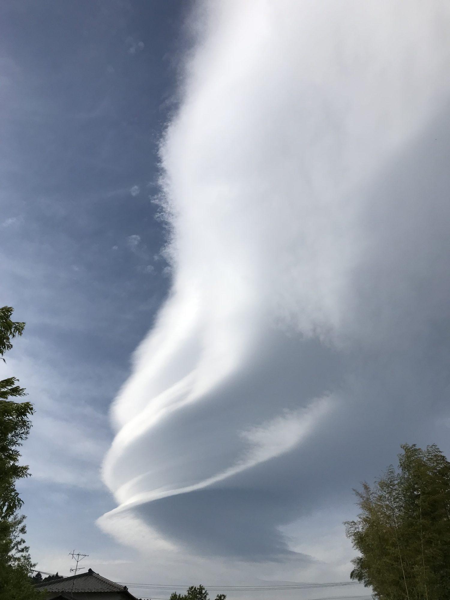 5月6日の吊るし雲