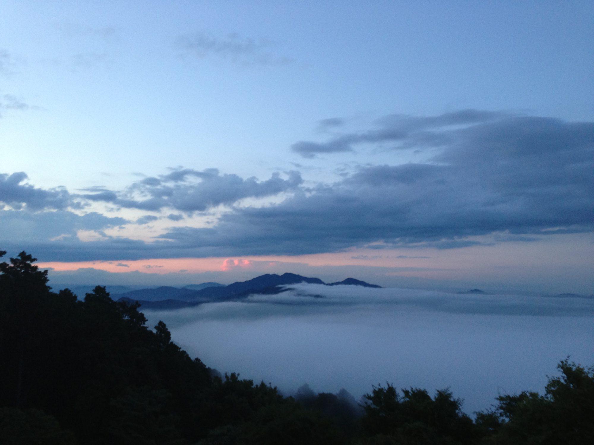 筑波山の雲海