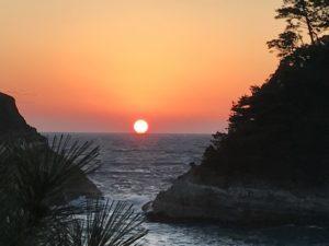 西伊豆堂ヶ島からの夕日