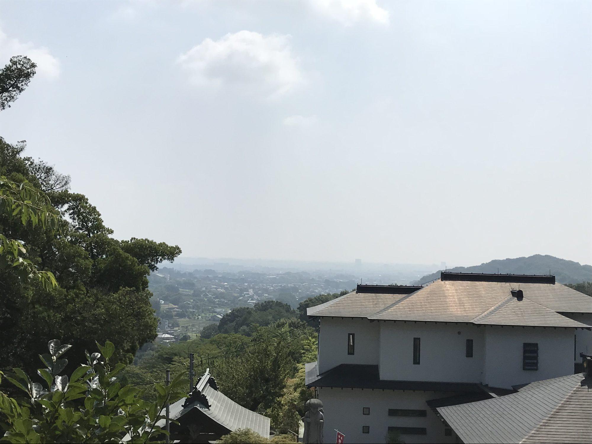 厚木飯山長谷寺からの景色
