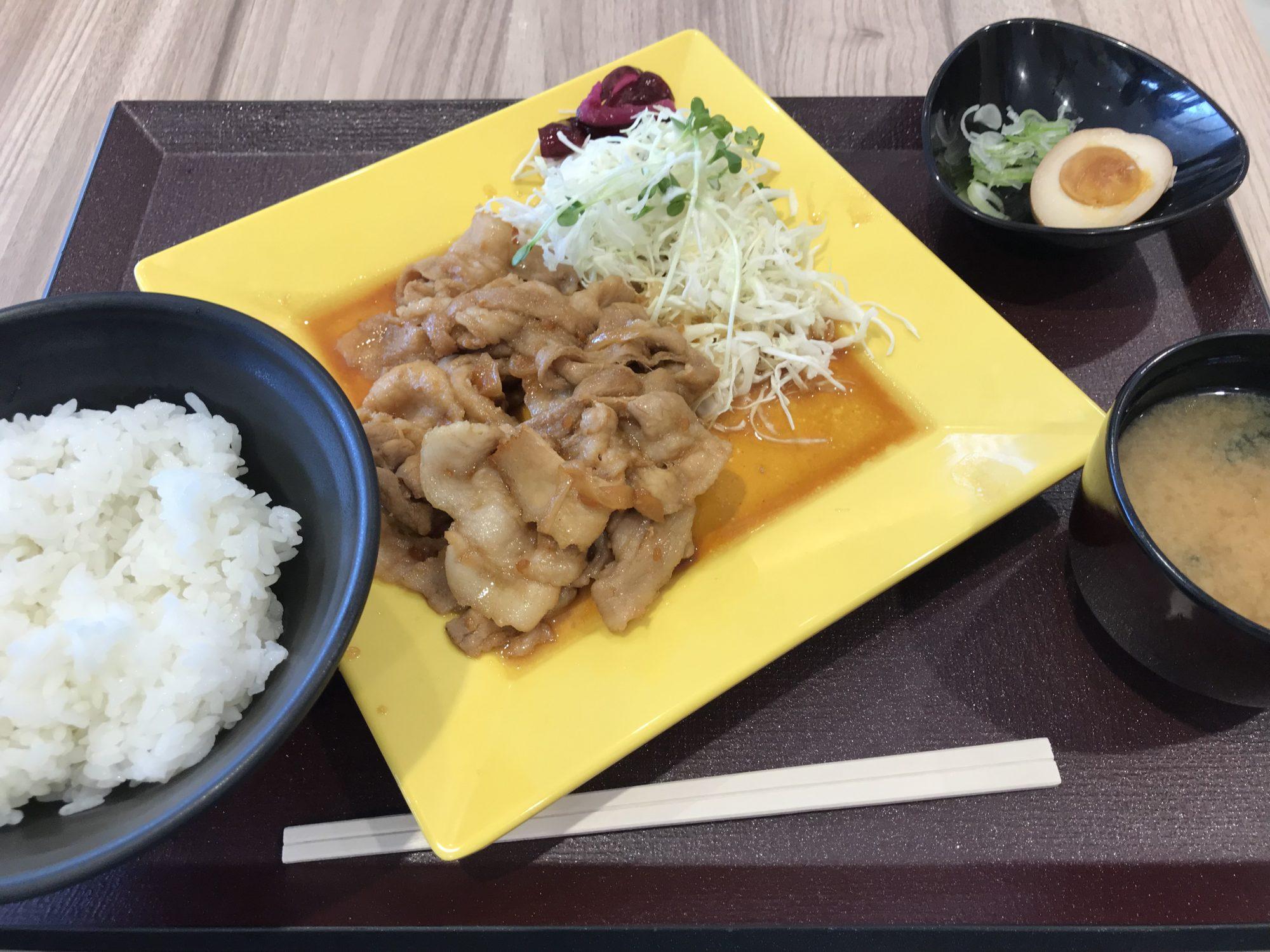 駒門パーキングエリア、生姜焼き定食