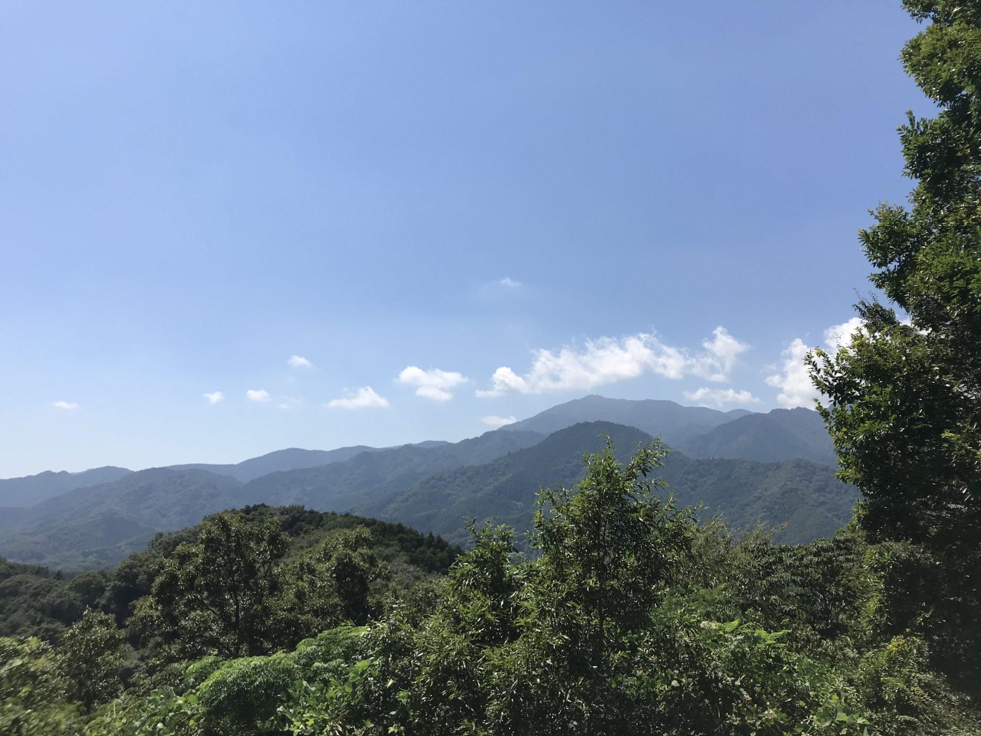 白山から大山を望む