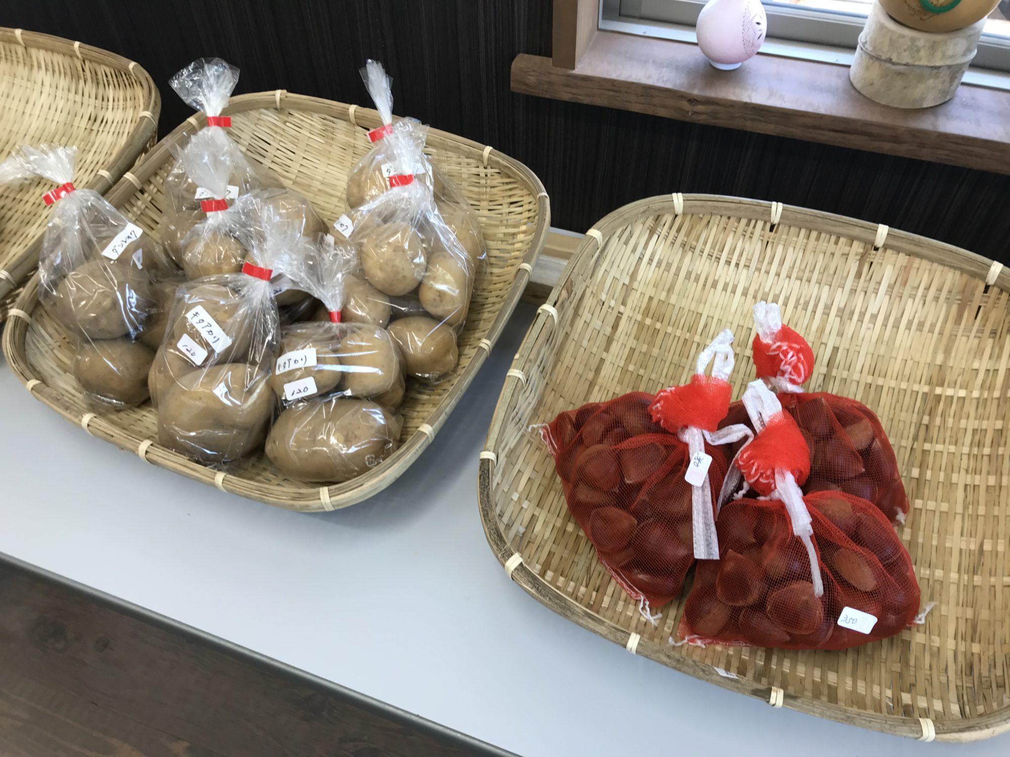 飯山白龍の館栗とジャガイモ