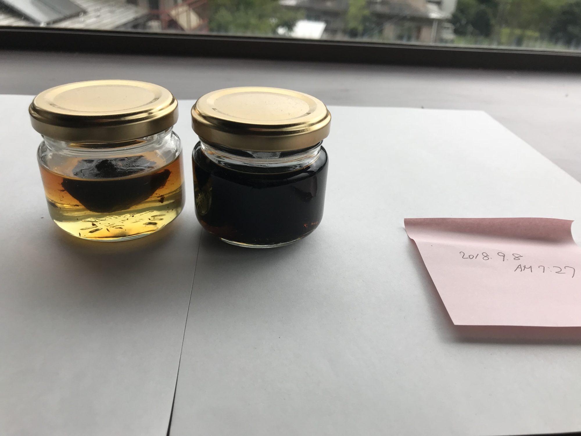 黒にんにく蜂蜜第一次試作9月8日