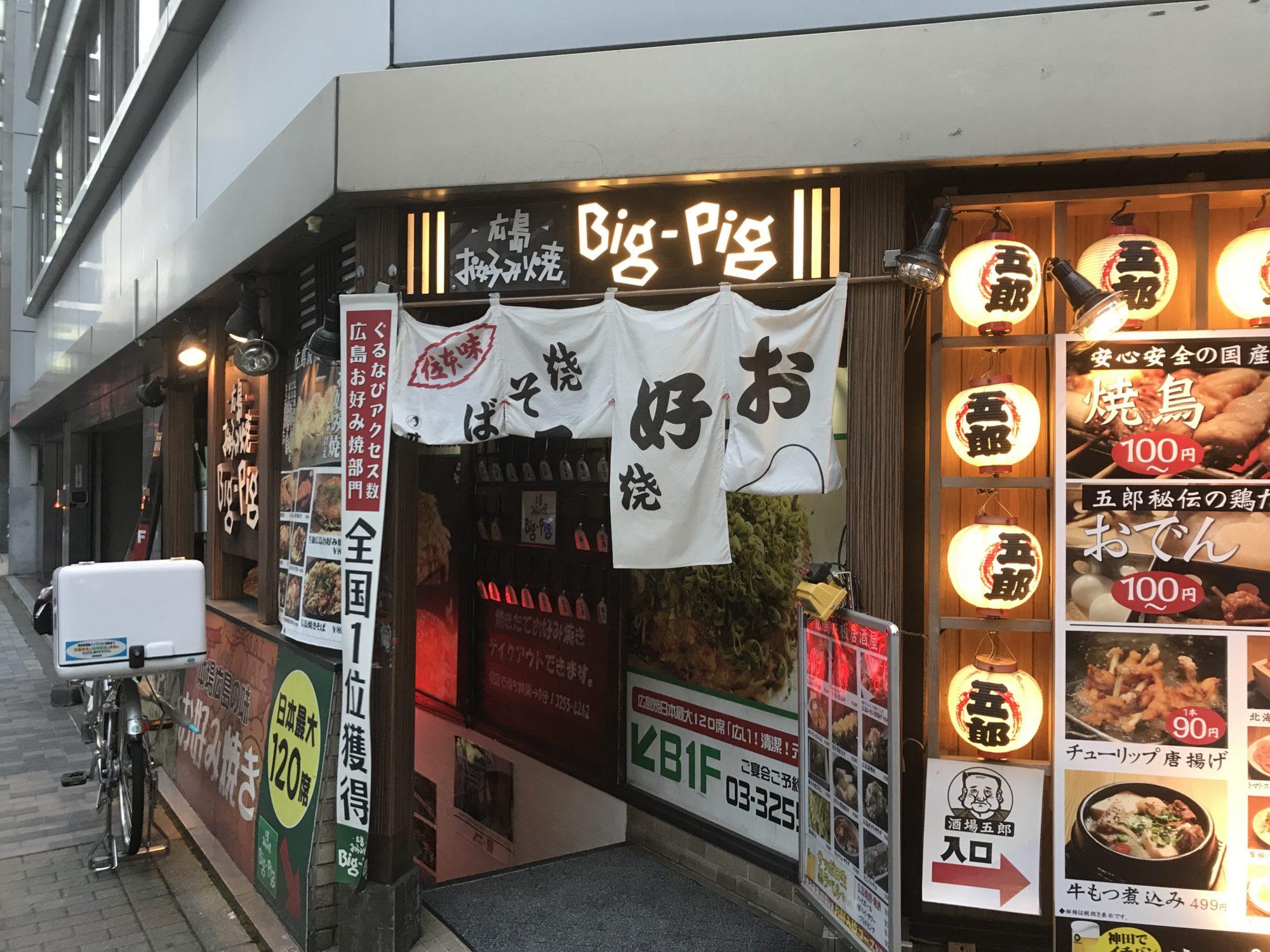Big-Pig 神田カープ本店入口