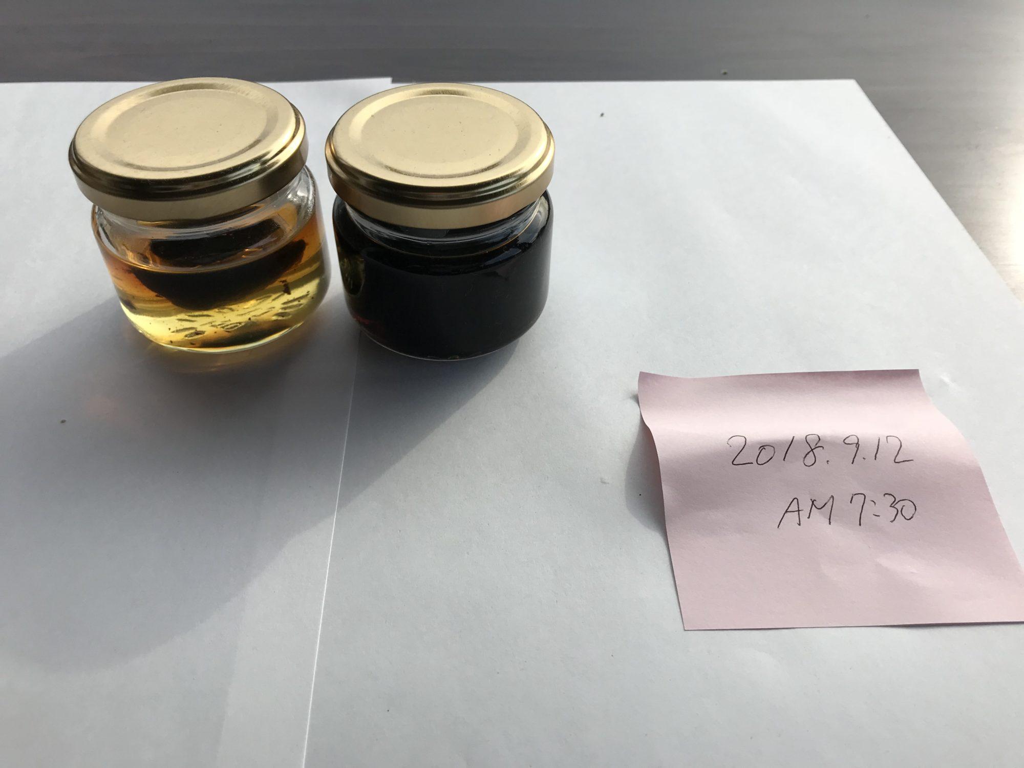 黒にんにく蜂蜜第一次試作9月12日