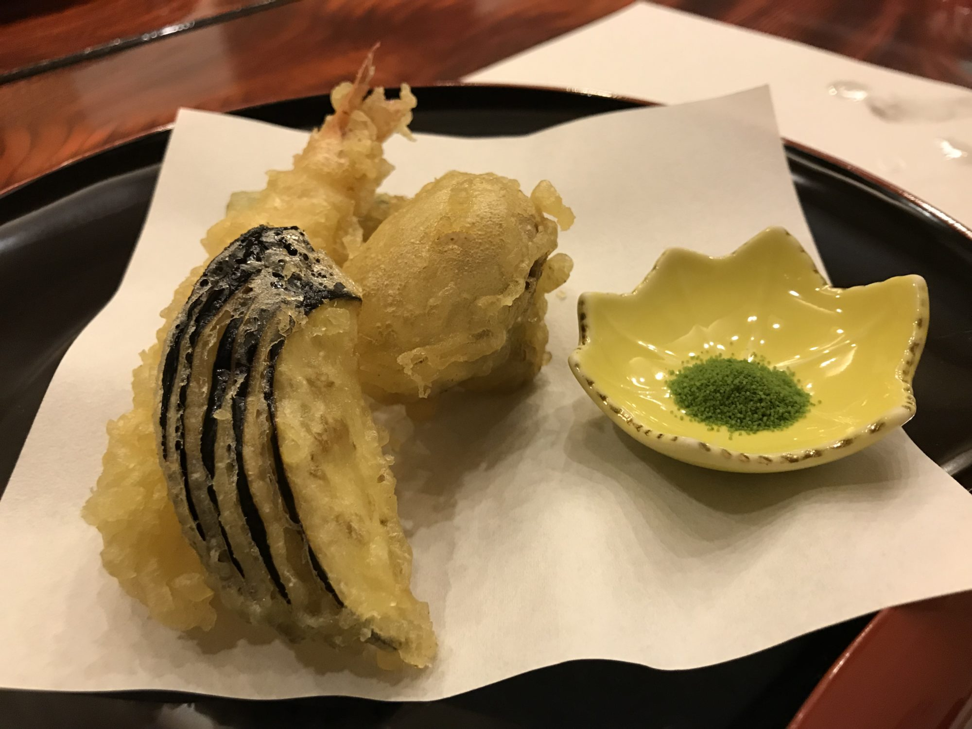 河口湖泰平館夕食天ぷら