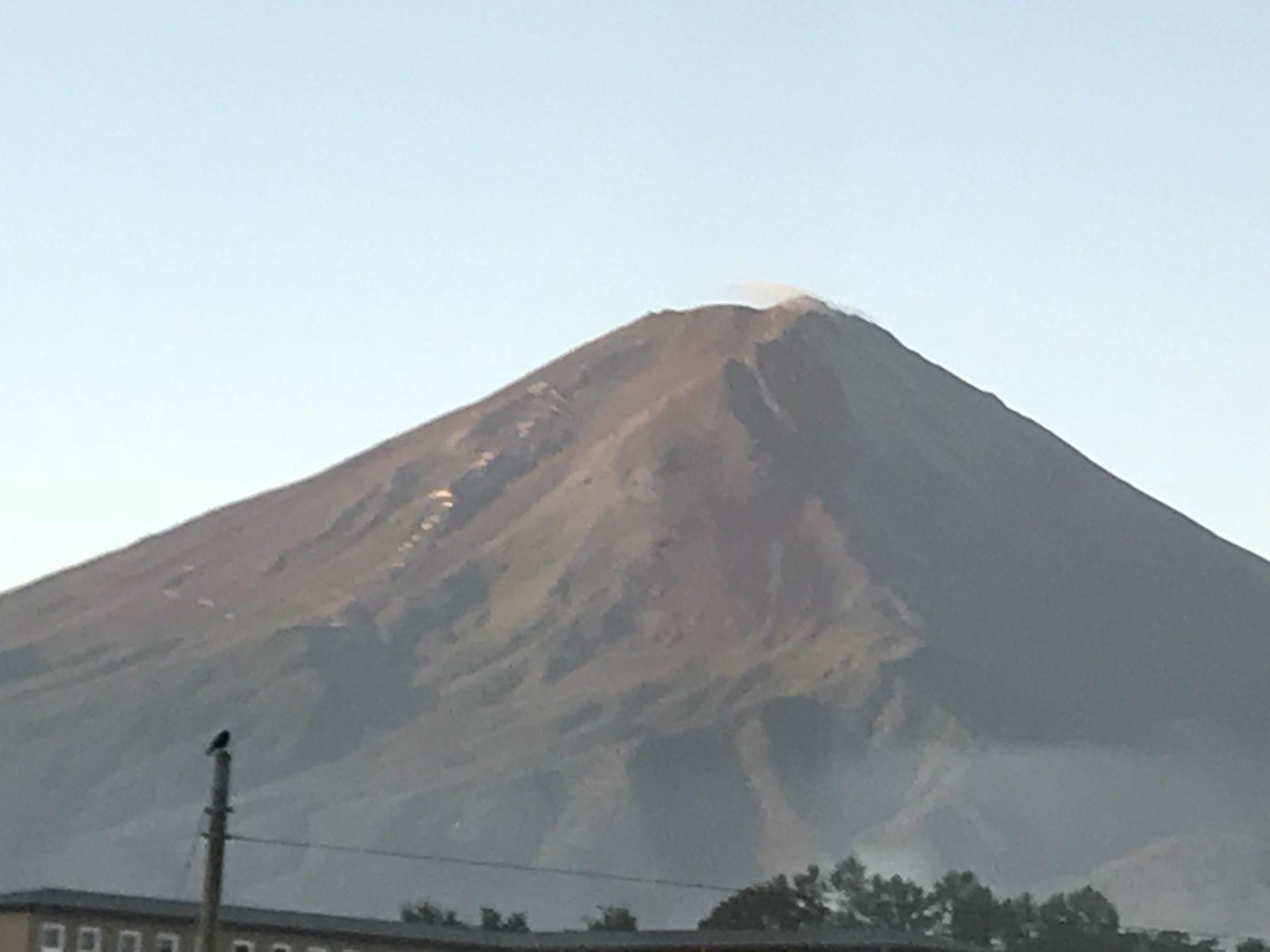 河口湖泰平館からの富士山
