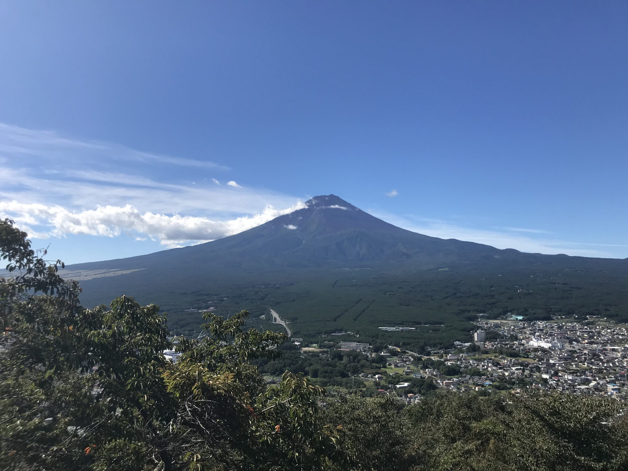 富士山パノラマロープウェイからの富士山