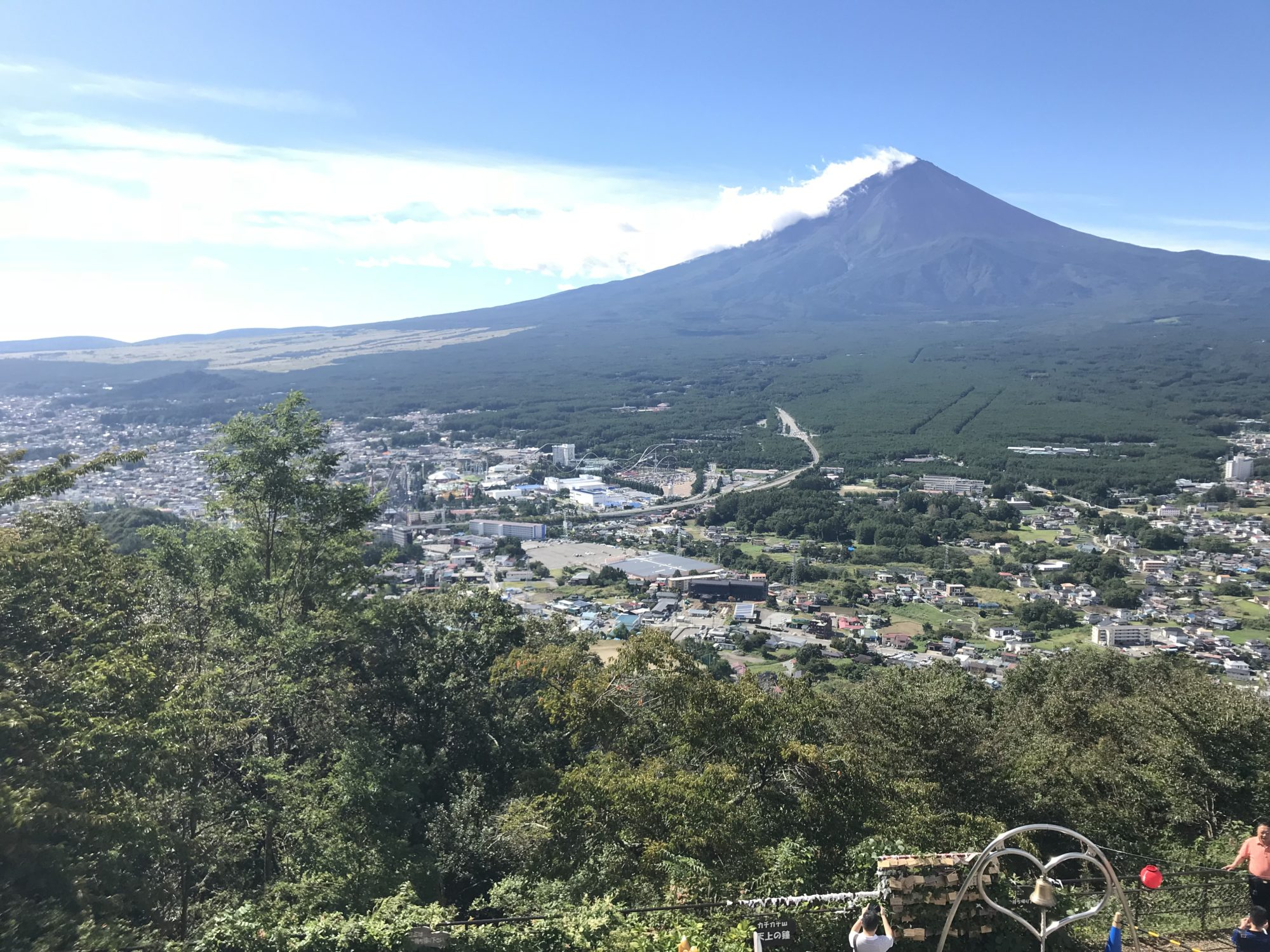 富士山パノラマロープウェイ展望台からの富士山