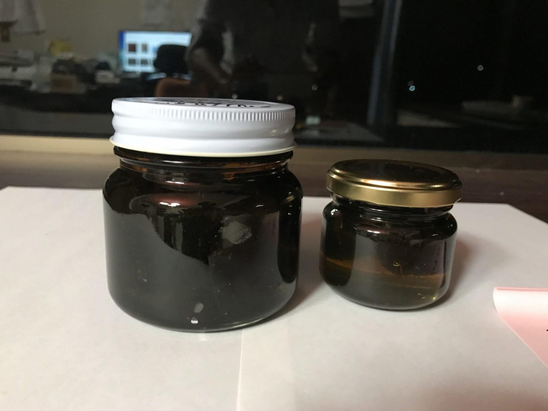 黒にんにくの蜂蜜漬け、20180927