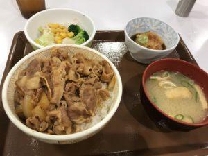 すき家おろしポン酢牛丼とサラダセット