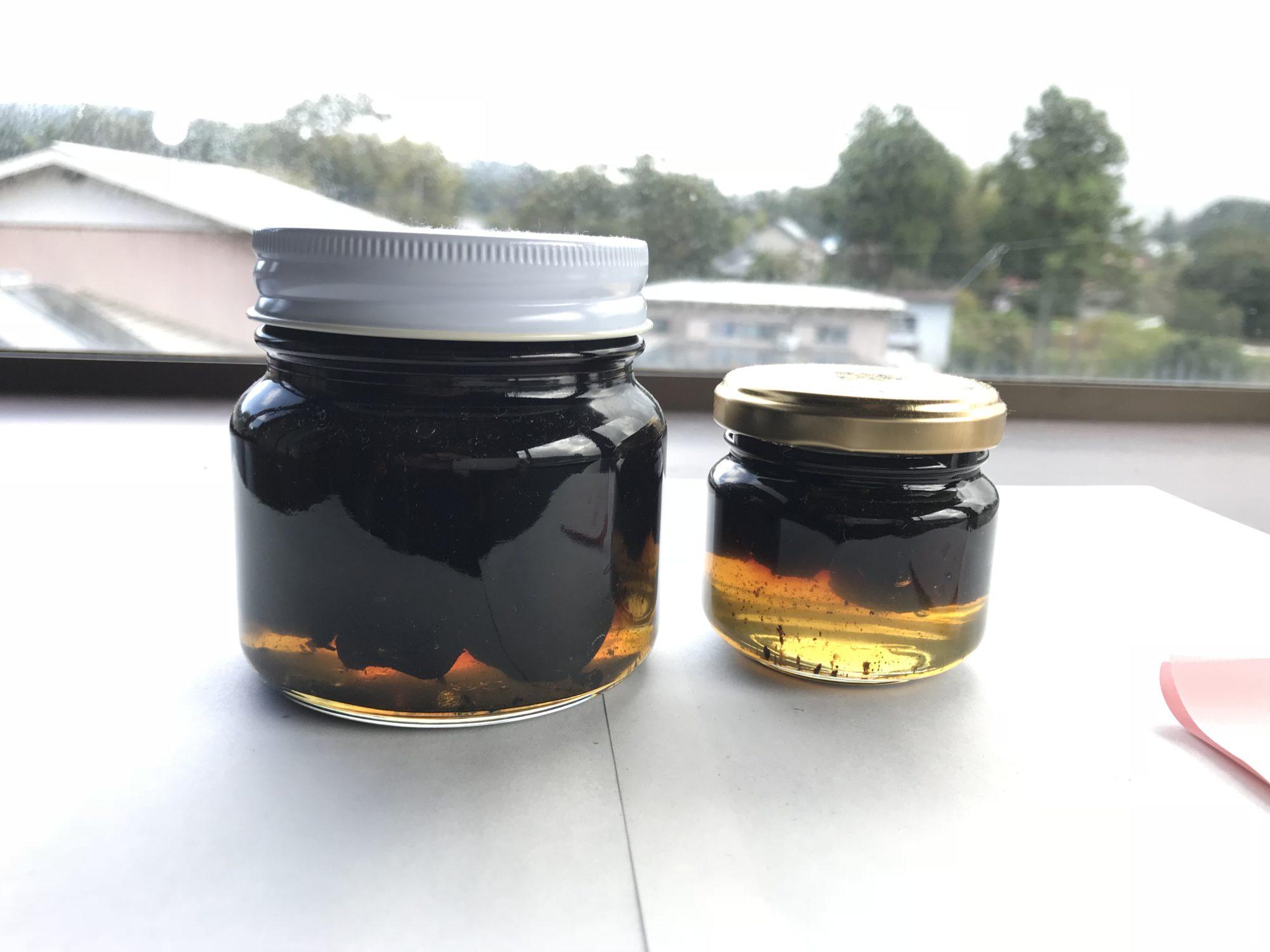 黒にんにく蜂蜜漬け中国産蜂蜜20181007