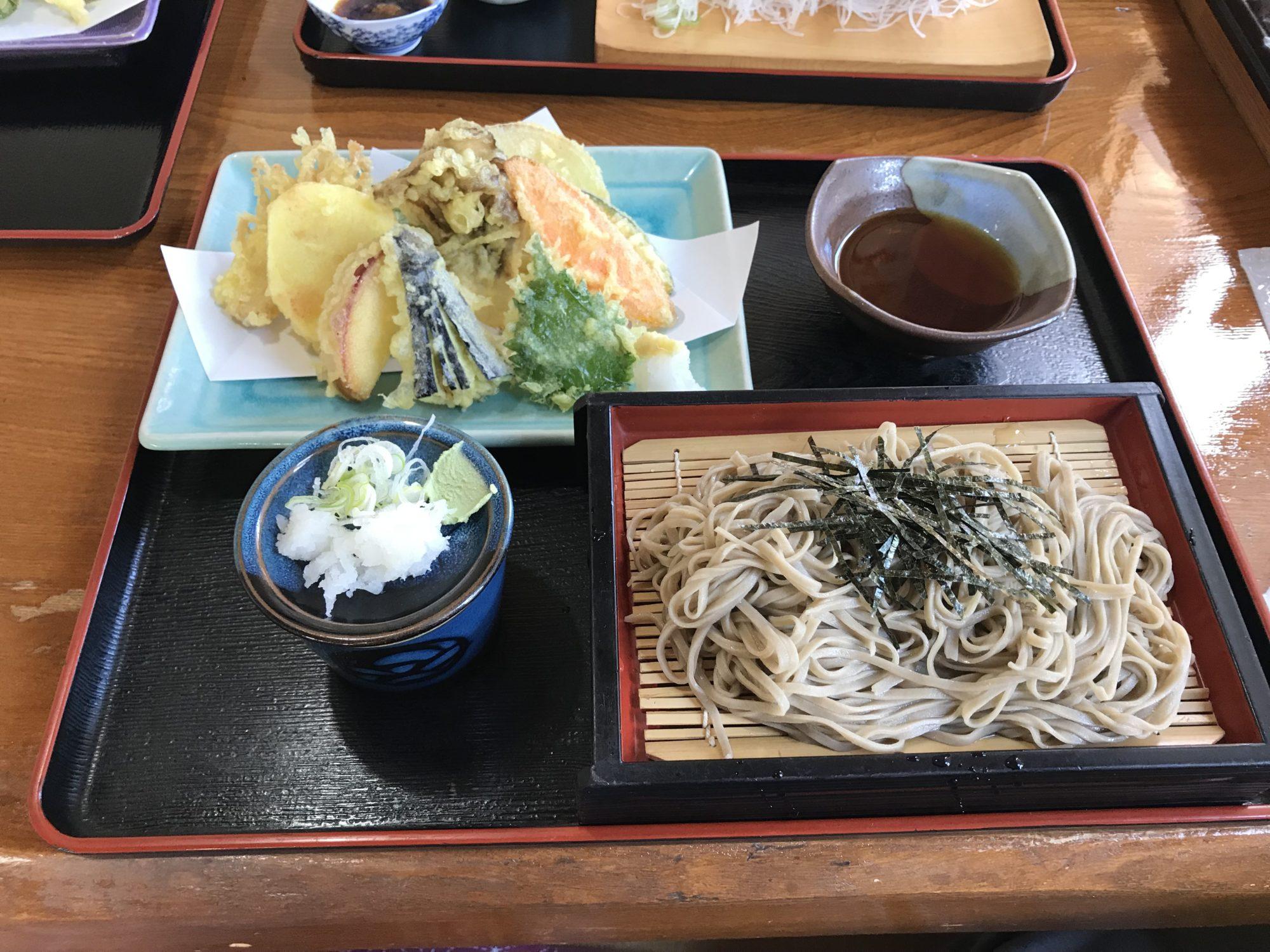 千ひろ秋野菜天ざる