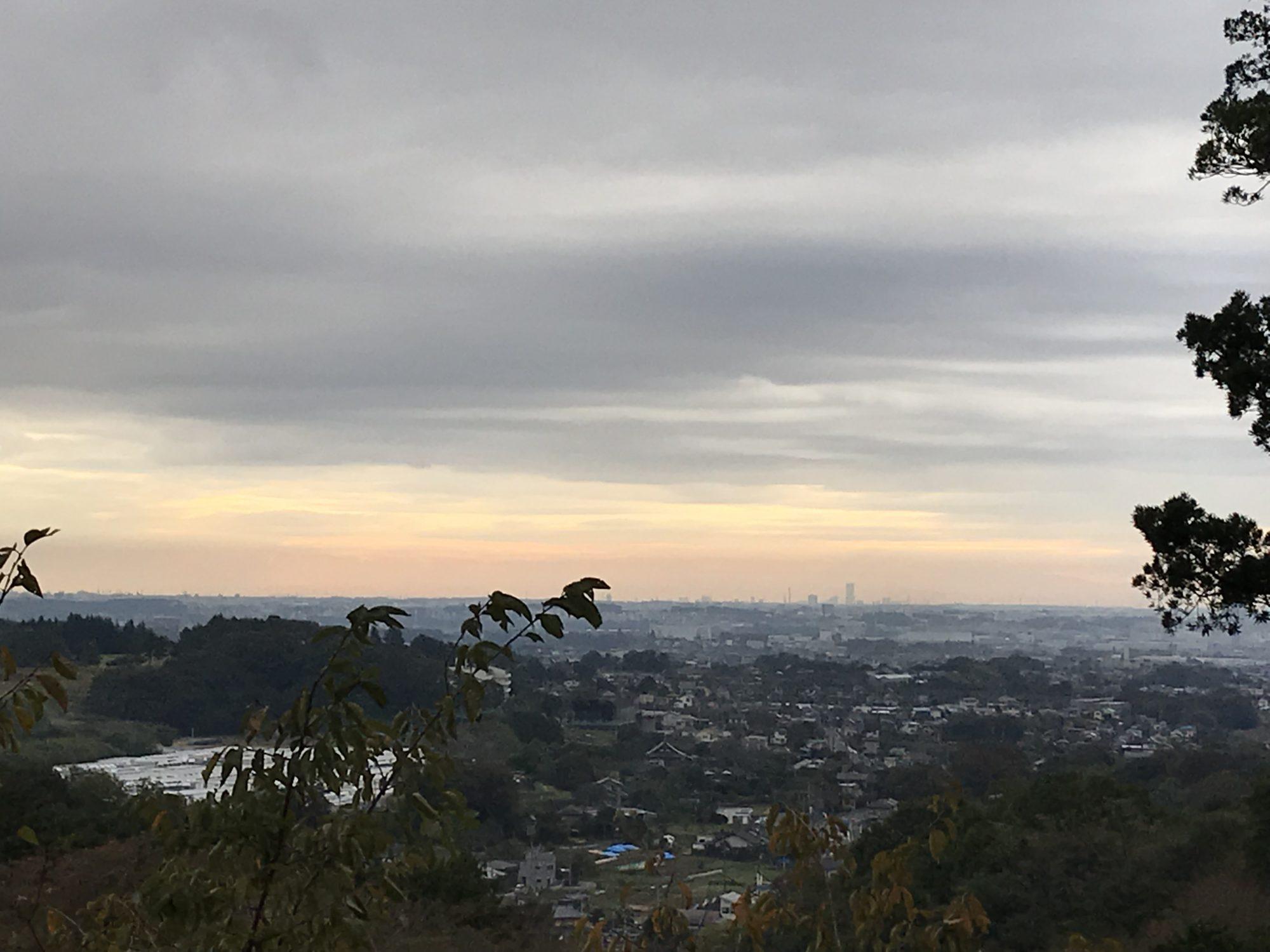 飯山長谷寺からの景色