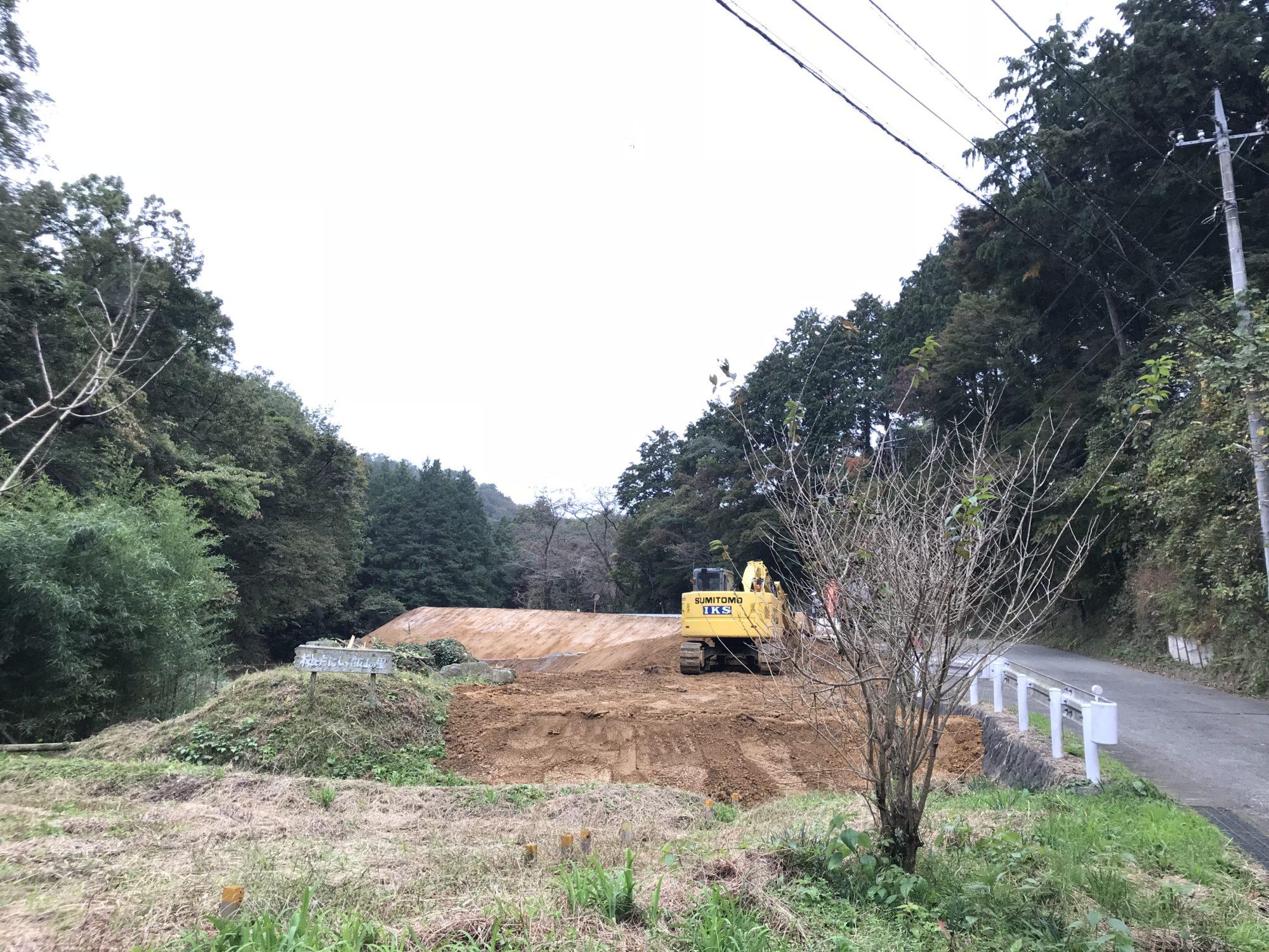 飯山長谷寺参道拡張工事