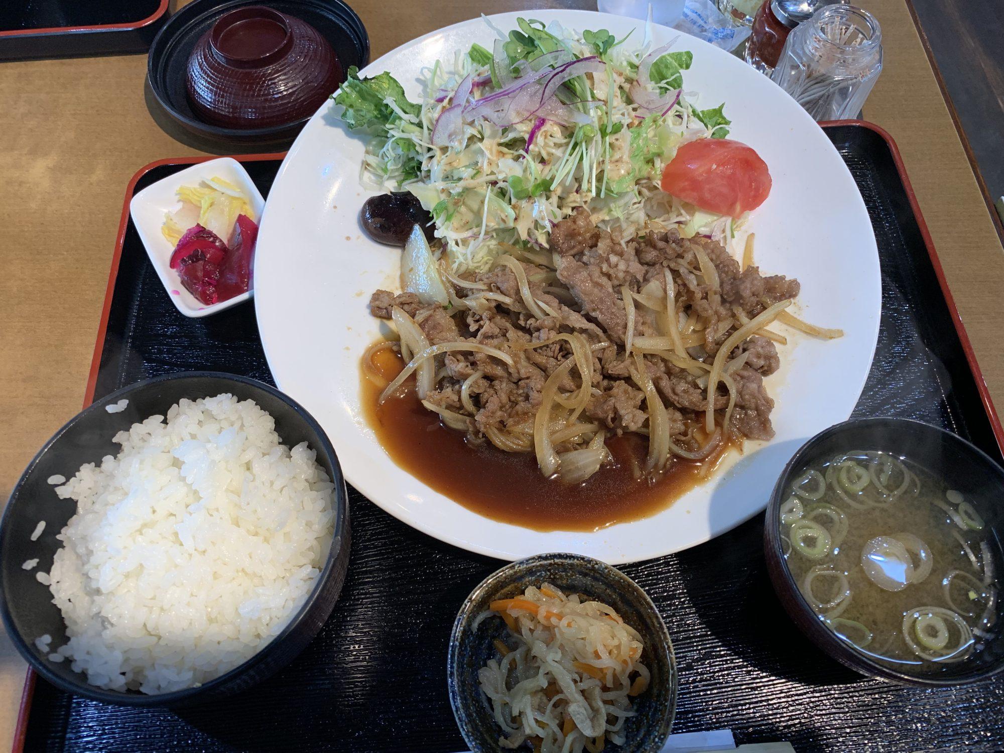 レストラン141黒毛和牛のしょうが焼き定食