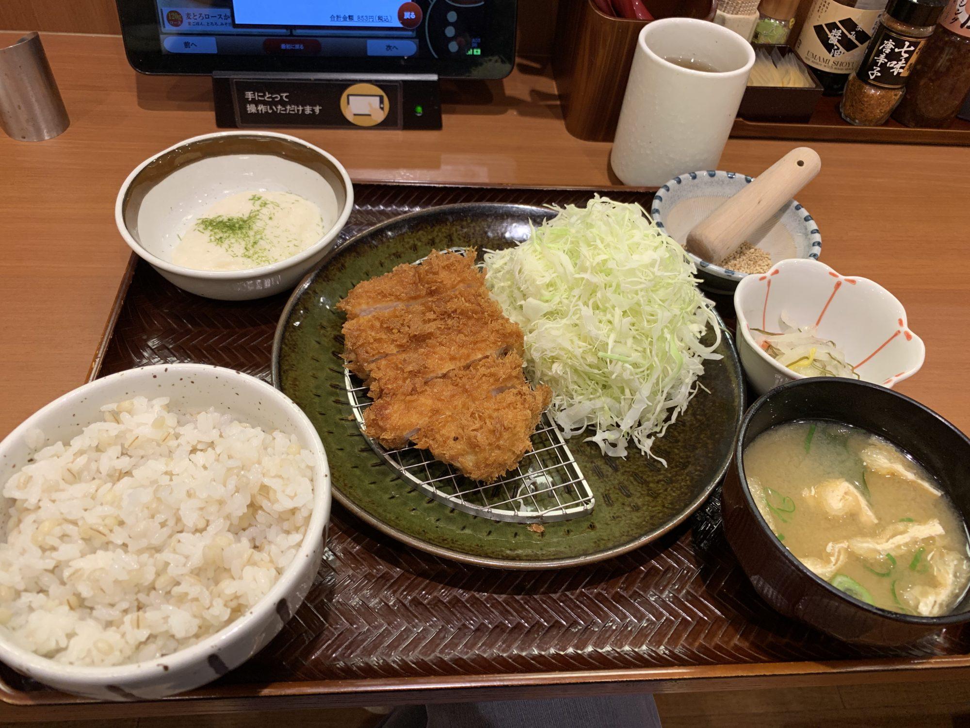 かつ庵川崎生田店麦とろロースかつ定食