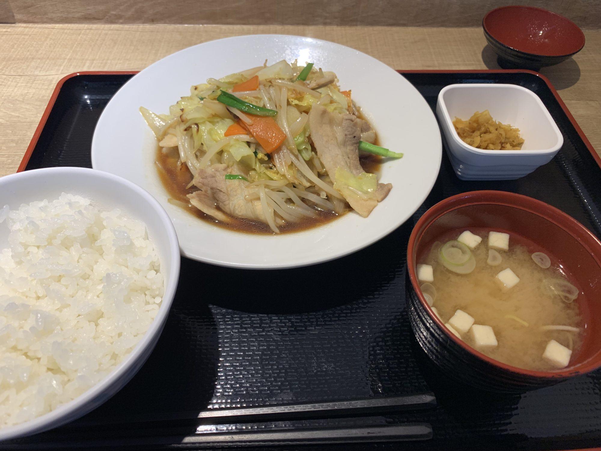 道の駅ふじおやま肉野菜定食