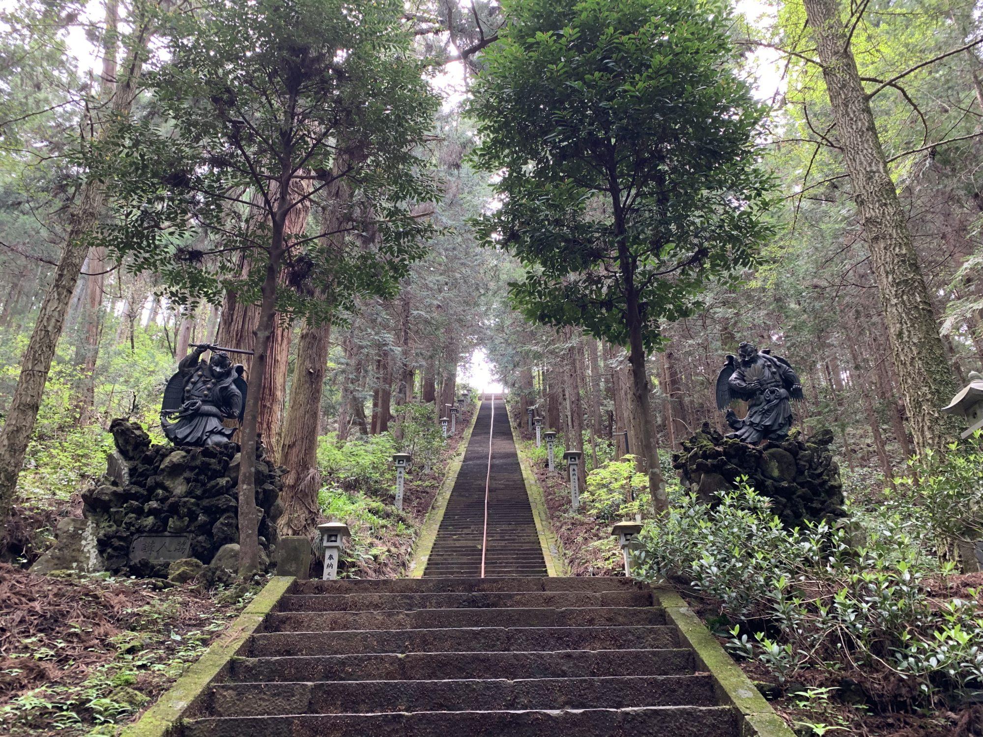 大雄山最乗寺奥の院への階段